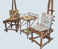 comfy willow chairs for the non-quilters to rest in
